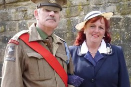 Drill Sergeant from Dad's Army at Crich Tramway Village Boot Camp