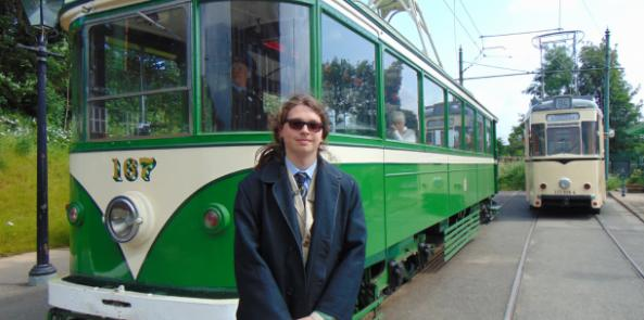 Young Volunteer becomes a Tram Conductor