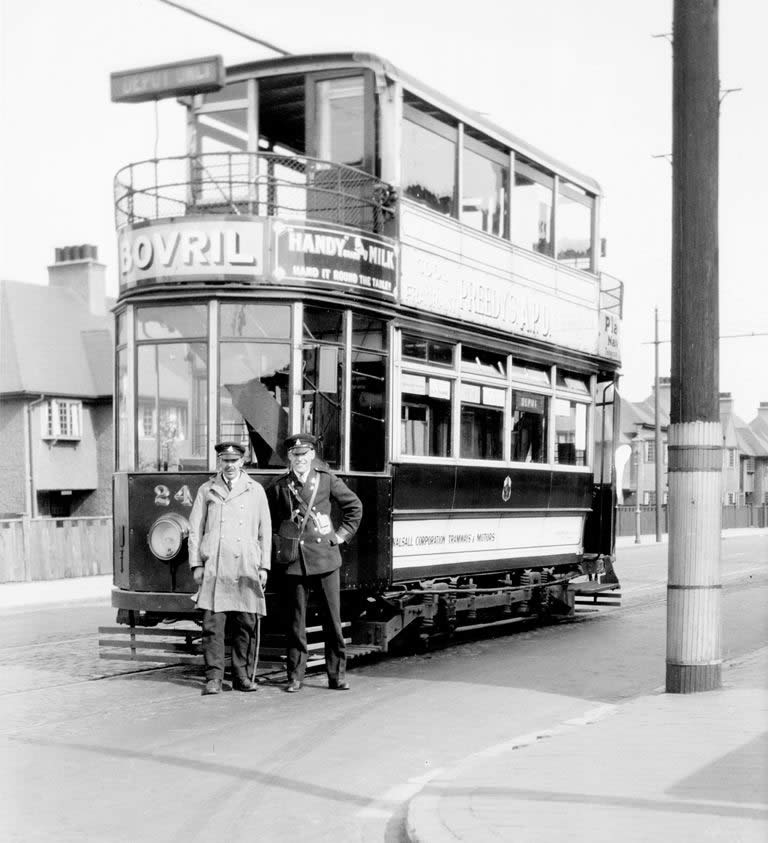 crew posing with their tramcar