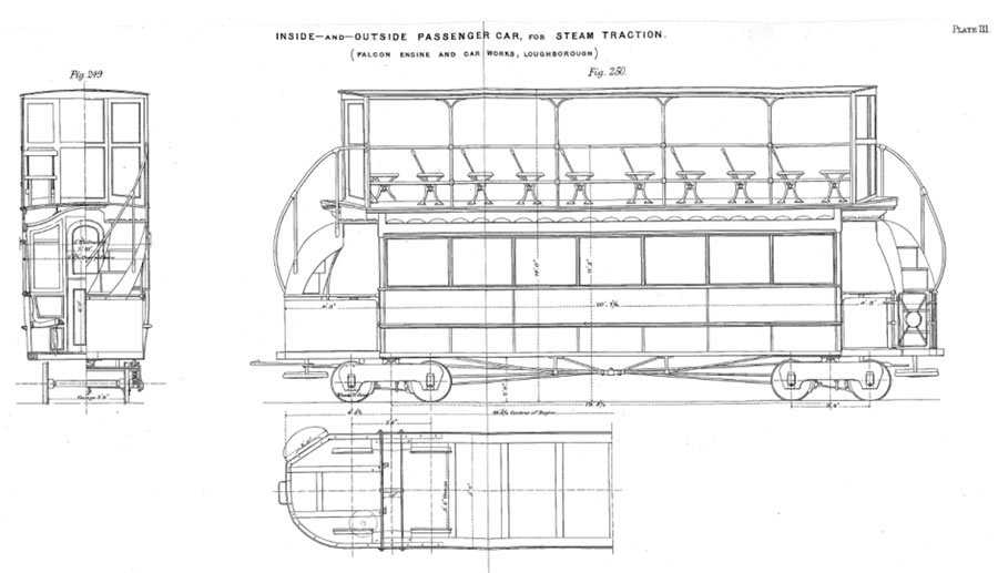 double deck trailers drawing
