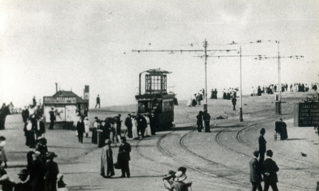 Blackpool 4 at Gynn. Photo courtesy of Crich TMS photo archive, date unknown.