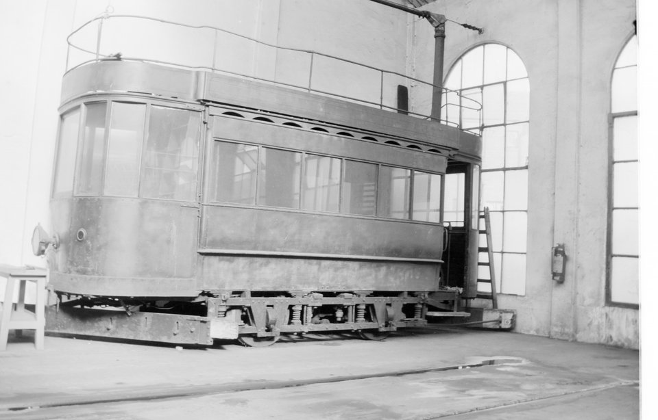 Blackpool 1 (4), Bispham depot. R.W. Crafter, 1959