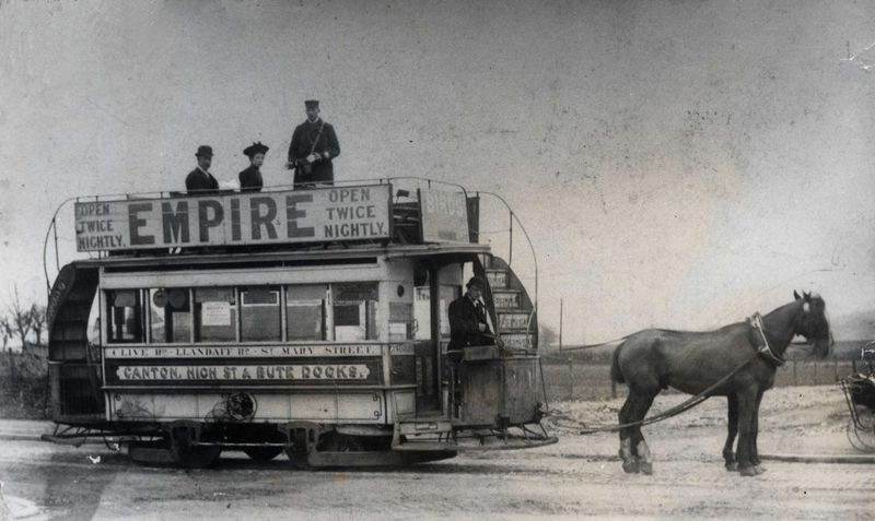 cardiff-horse-drawn-tram-canton-to-bute-docks-c1900s-1