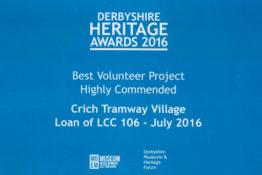 Derbyshire Heritage Awards 2016