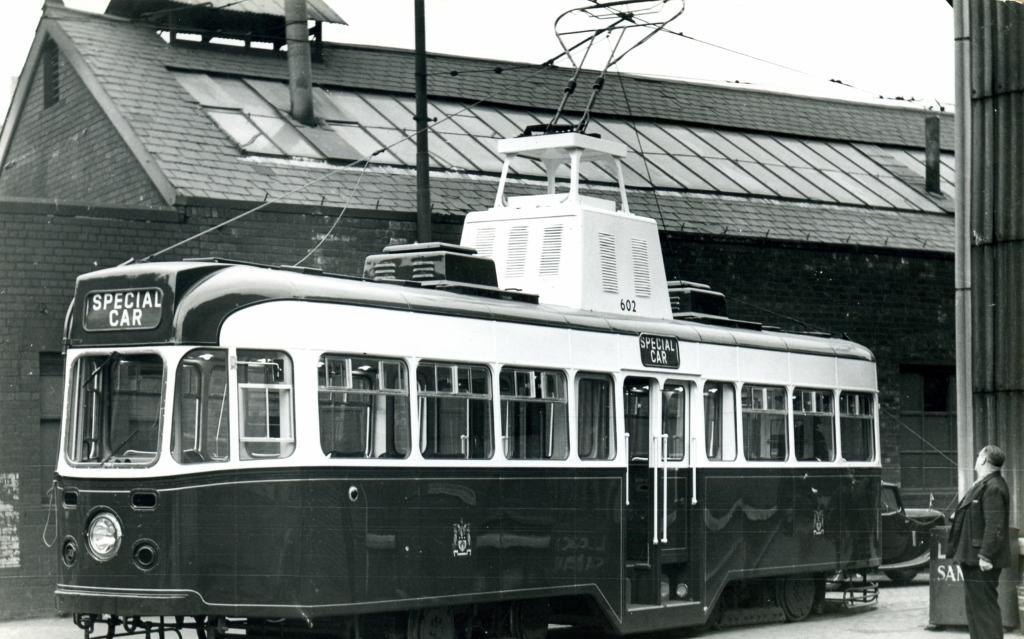 602 at Kirkstall Road works, Bob Parr, 12/5/1953.
