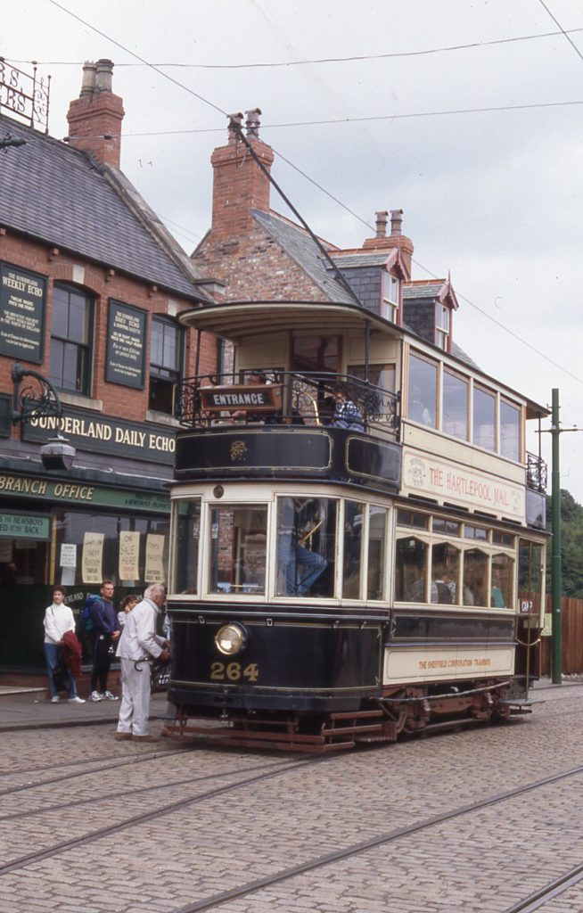 The 'other' Sheffield 264, photographed at Beamish Living Museum of the North in 1995. Photo: Jim Dignan.