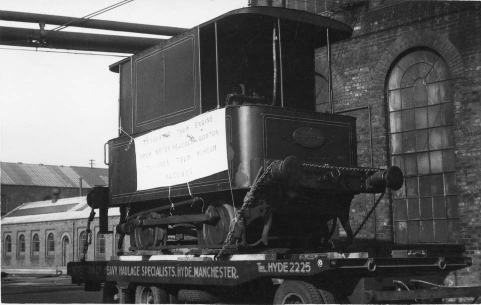 'John Bull' at Beyer & Peacock works prior to removal to Crich. Photo courtesy of Crich TMS photo archive. 1962