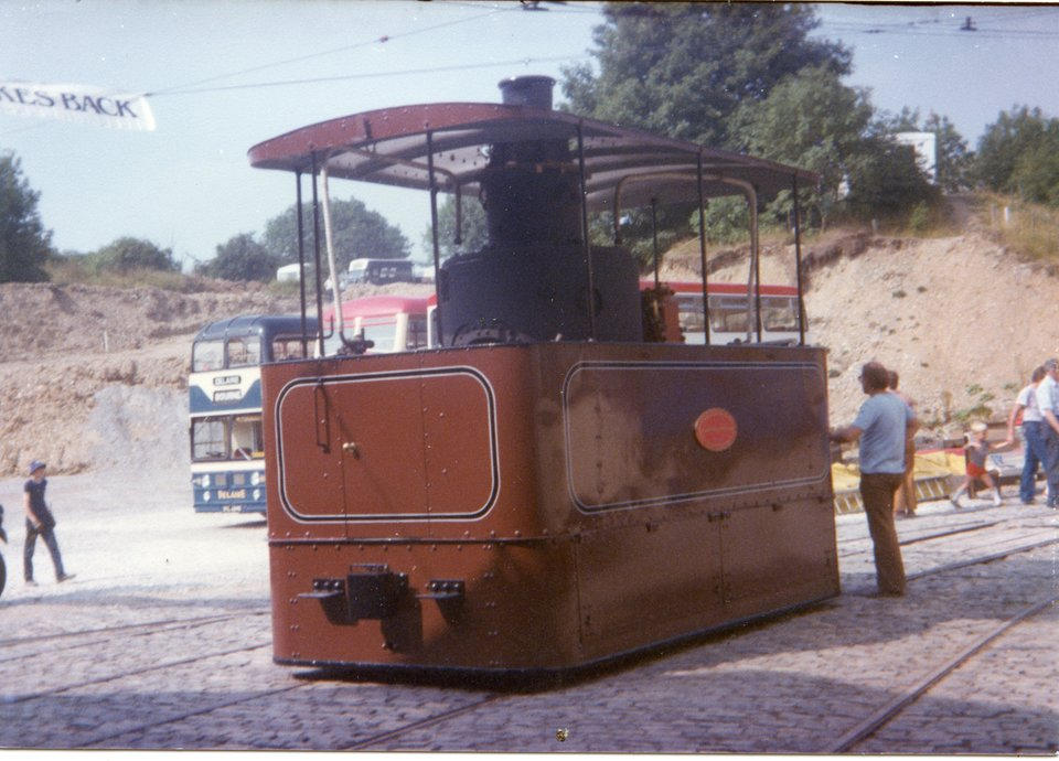 John Bull operating at Crich during a Transport Extravaganza, 1983. Photo courtesy of Crich TMS photo archive.