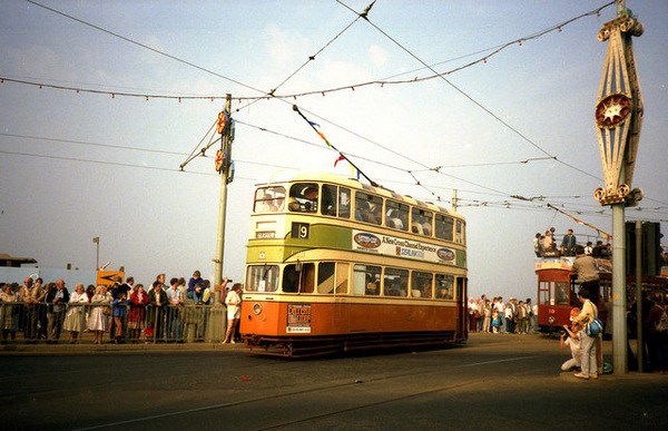 Glasgow 1297 at Blackpool in 1985. © Copyright Dr Neil Clifton and licensed for reuse under this Creative Commons Licence