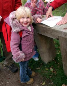 Child on Woodland Walk - treasure hunt