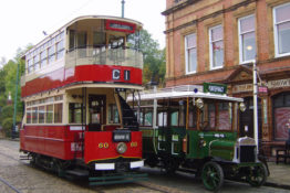 Exciting Arrival at the 20th Leyland Society Gathering on Sunday 8th July Crich Tramway Village