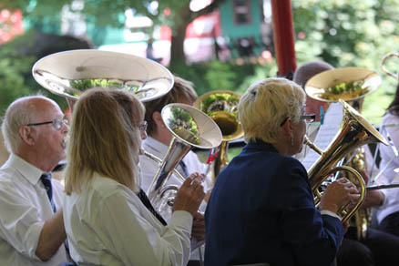 Bands at Crich