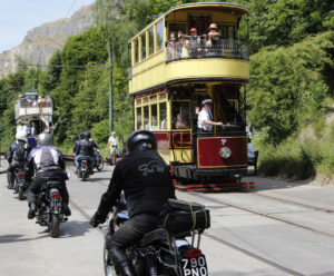 Bikes Leaving +tram
