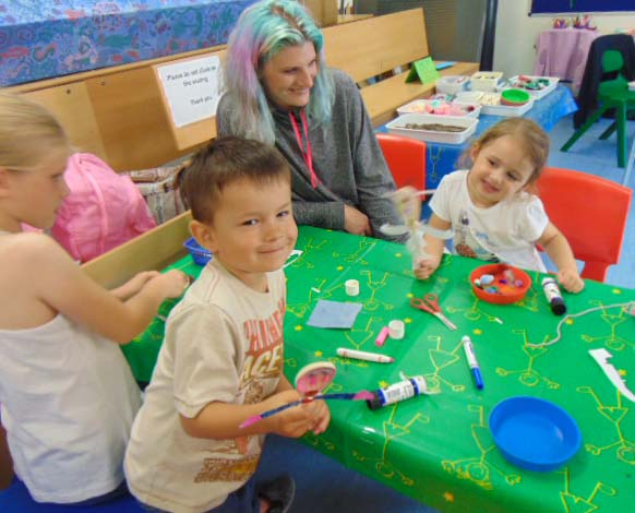 Children creating in the Learning Centre