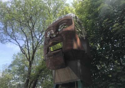 Mechanical sculpture at Wakebridge