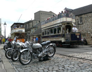 London United 159  Glasgo 22 and classic motorcycles