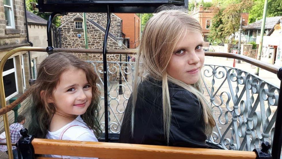 Children on tram