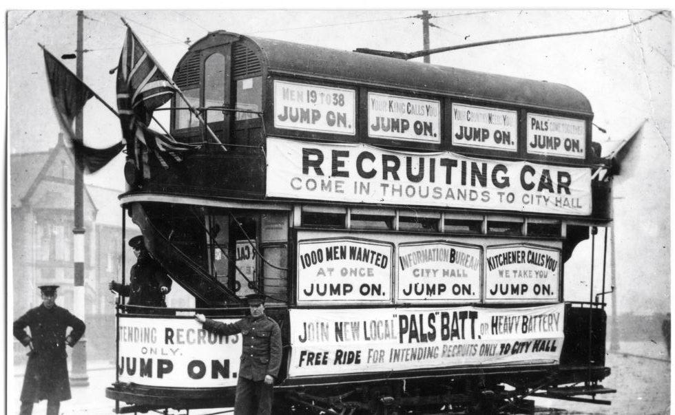 Cardiff Recruitment tramcar