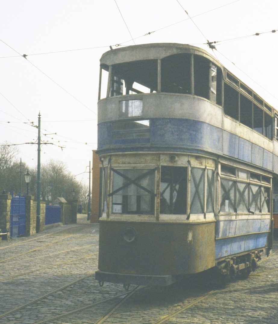 Leeds 345 in 2002 at Crich Tramway Village