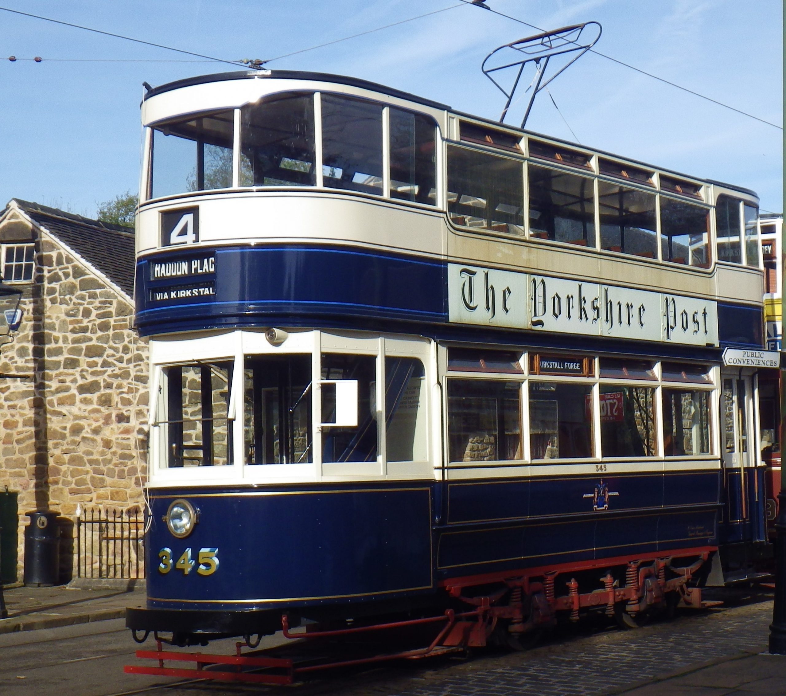 Leeds 345 in 2017 at Crich Tramway Village