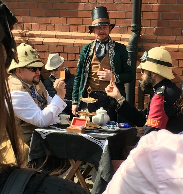 Tea Duelling at Steam Punk event