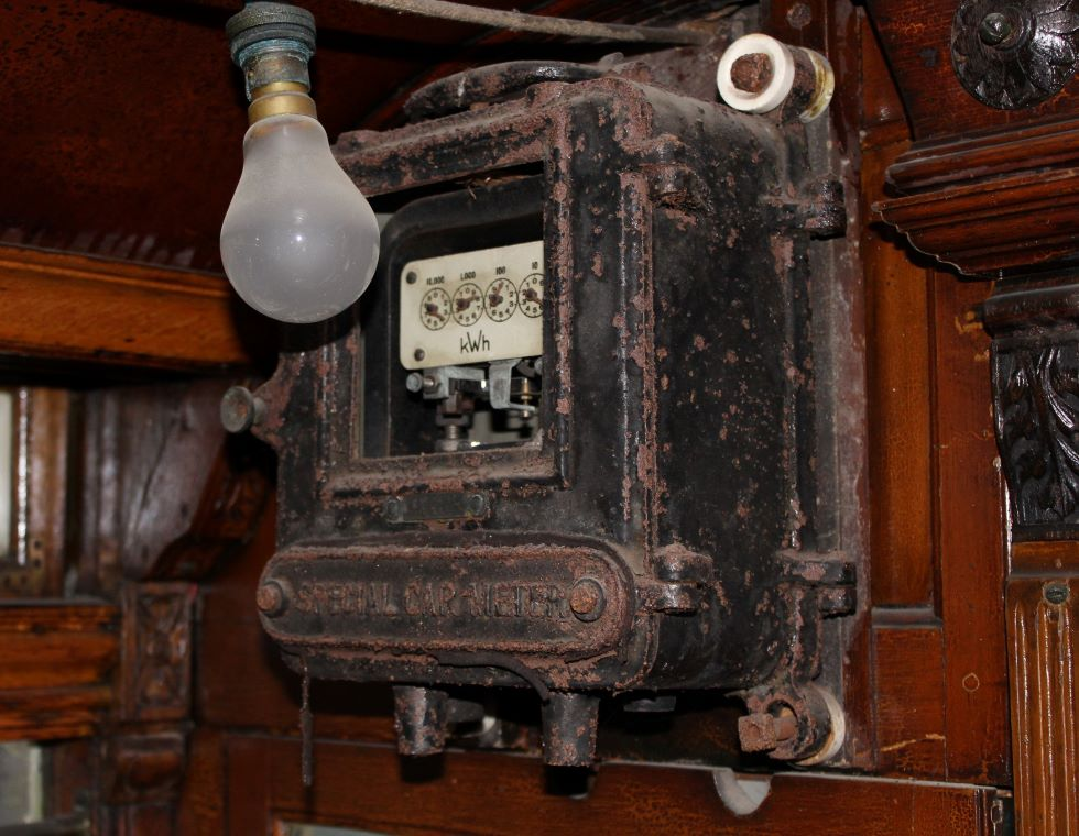 Derby 1 electricity meter Crich 2 May 2021. Photo Paul Abell