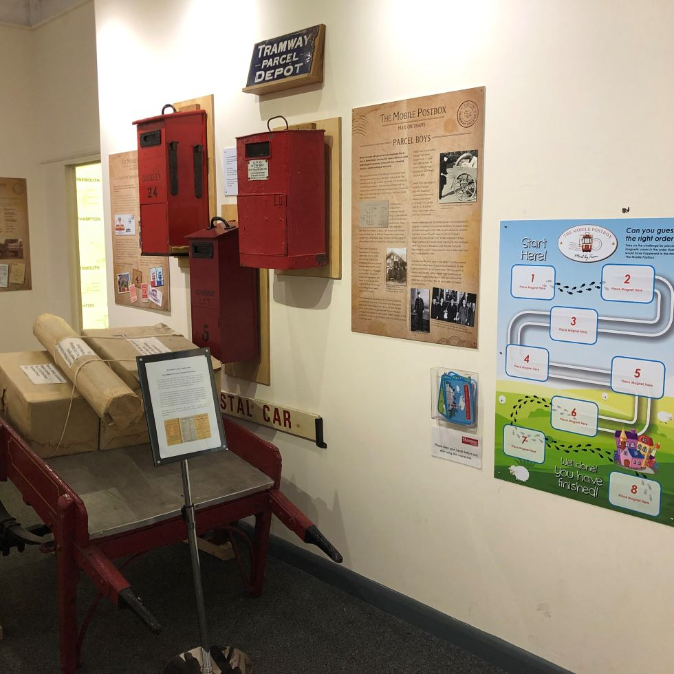 Mobile Postbox exhibition - magnetic game