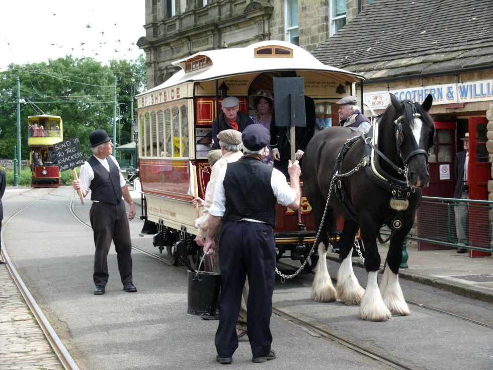 Horse Tram Sheffield 15 at Crich